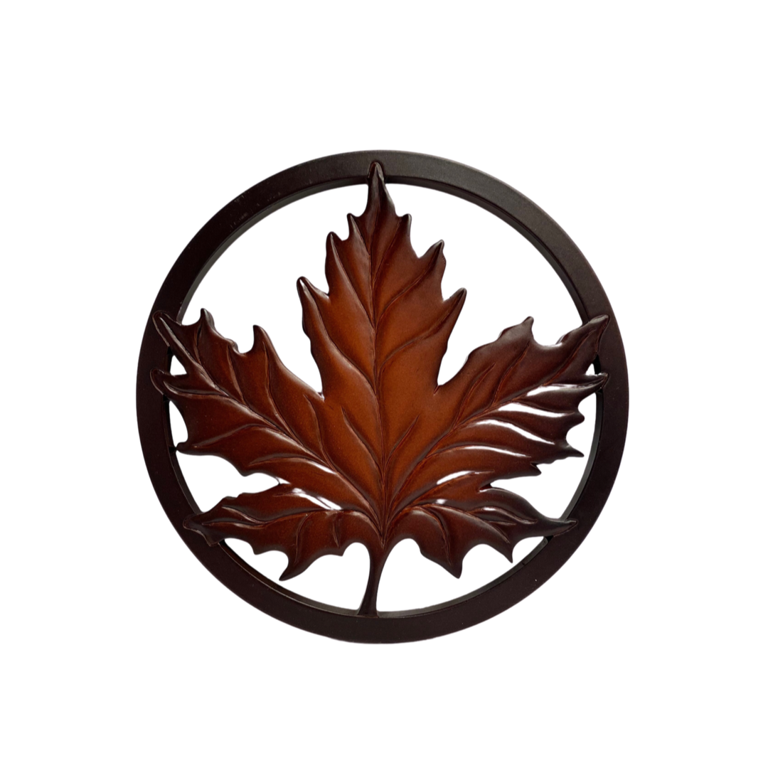Trivet - Recycled Glass Maple Leaf