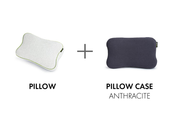 BLACKROLL® PILLOW/CASE ANTHRACITE SET