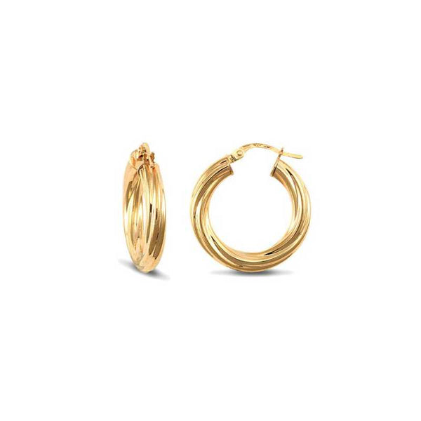 DIOR TWIST HOOPS | 20MM
