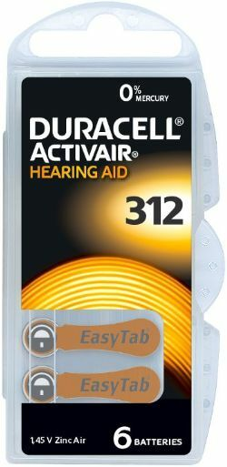 Duracell Activair Mercury Free Hearing Aid Batteries Size 312 Expires 2024