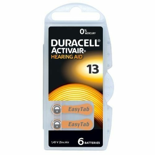 Duracell Mercury Free Hearing Aid Batteries Size 13 All Sizes