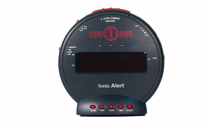 Sonic Bomb Alarm Clock with Bed Shaker- UK Version SBB500SS Geemarc