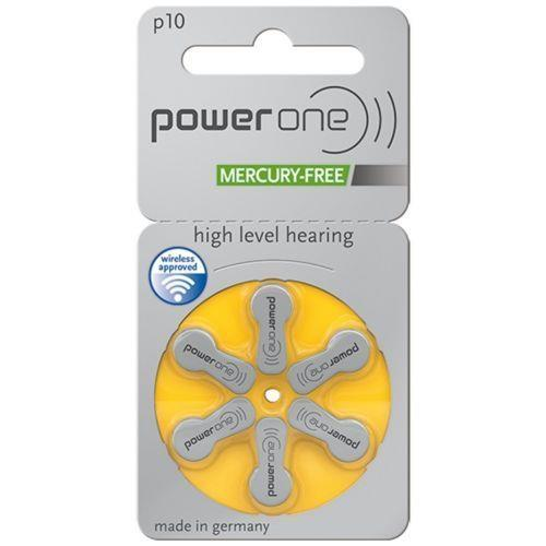 Powerone Size 10 Mercury Free Hearing aid batteries