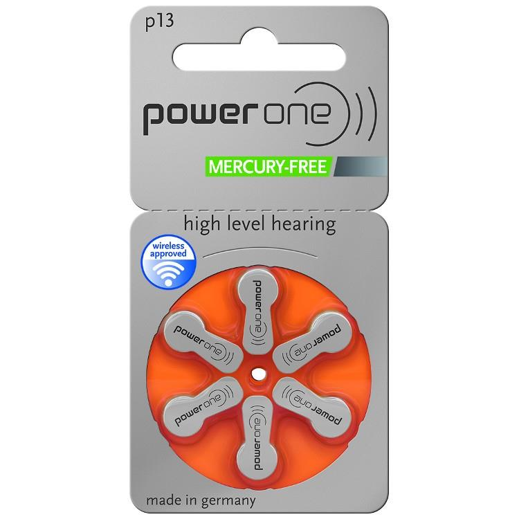 Powerone Size 13 Mercury Free Hearing aid batteries