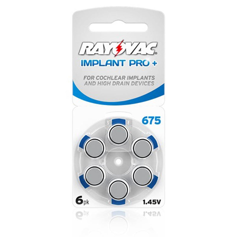 Rayovac Cochlear Implant Pro+ 675 Batteries x 60 cells