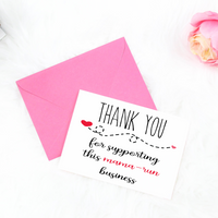 Mama-run business printable thank you card, Thank you for supporting this mama-run business printable thank you card for small businesses