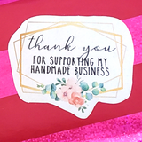 Thank you for supporting my handmade business stickers for Etsy sellers