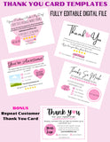 printable customer appreciation cards template business