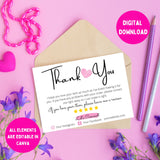 DIY thank you cards for business