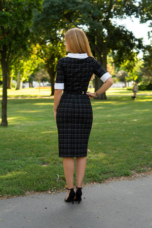 Black checkered dress