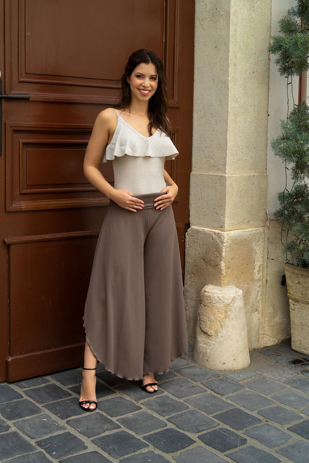 Brown divided skirt