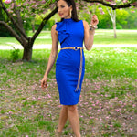 Royal blue frilly dress