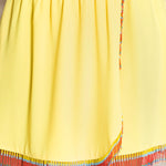 Yellow dress with beads