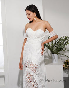 Mermaid Sweetheart Beach Boho Bridal Dress