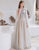 Gorgeous A-line Grey Prom Dress Pearl Long Evening Dress