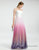 Ombre Pink Tulle Long Beach Wedding Dress