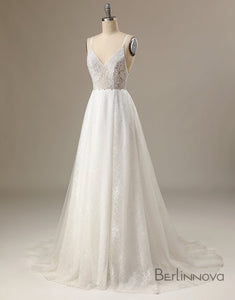 Illusion Soft Lace Wedding Dress