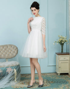 Bateau White Tulle Short Homecoming Dress