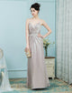 A-Line Spaghetti Straps Ruched Elastic Satin Bridesmaid Dress
