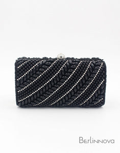 Classic Rhinestone Metal Chain Clutch Bag