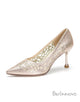 Stiletto Heel Hollow Pointed Toe Dress Shoes