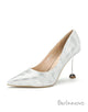 High Heel 10cm Heel Sparkling Pointed Toe Dress Shoes
