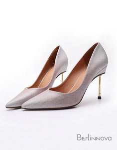 High Heel 9cm Heel Sparkling Pointed Toe Dress Shoes