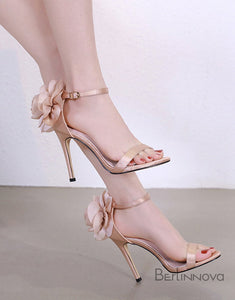High Heel 11cm Heel Sandals with Flower