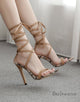 Women's Lace-up High Heels Prom Party Shoes