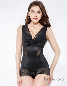 Black Lace Zipper Panty Shapewear