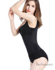 Black Zipper Spandex Bodysuits Control Brief with Lace