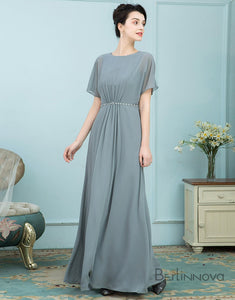 Short Sleeve Elegant Mother of The Bride Dress