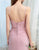 Simple Long Dusty Pink Bridesmaid Dresses with Ruched