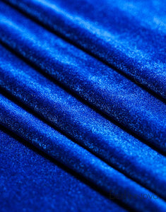 Velvet Fabric Swatch In Single Color