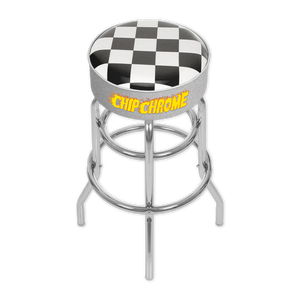 SOLD OUT: Chip Chrome - Checkered Barstool