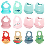 Baby Bibs Waterproof Silicone Feeding