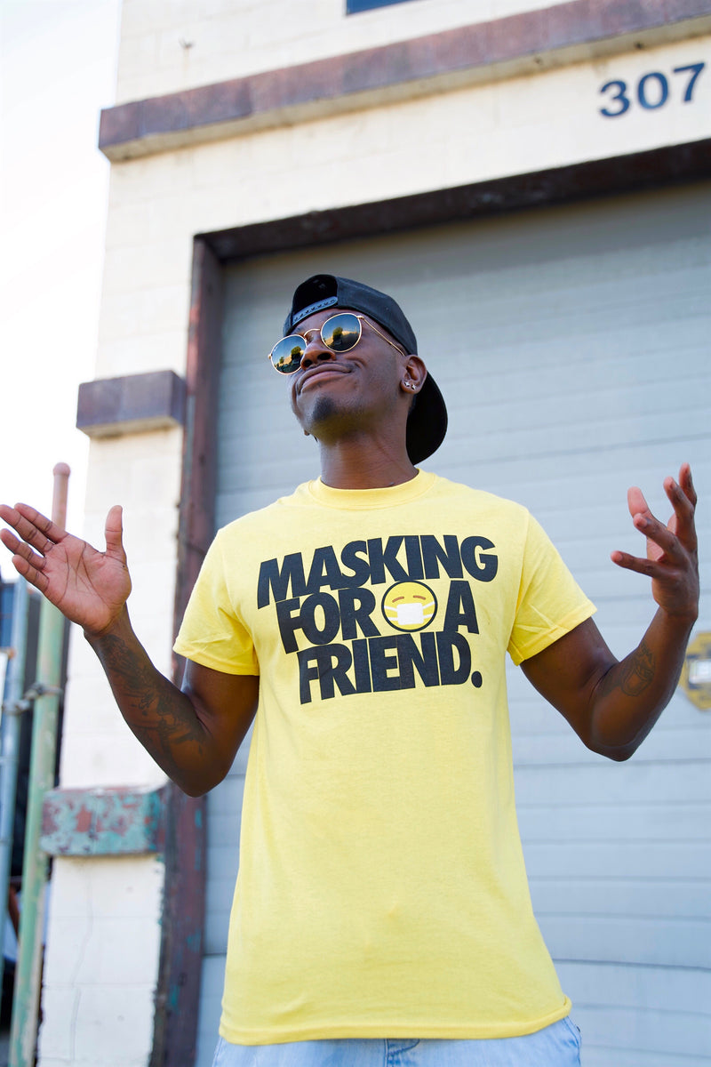 MASKING FOR A FRIEND TSHIRT - YELLOW
