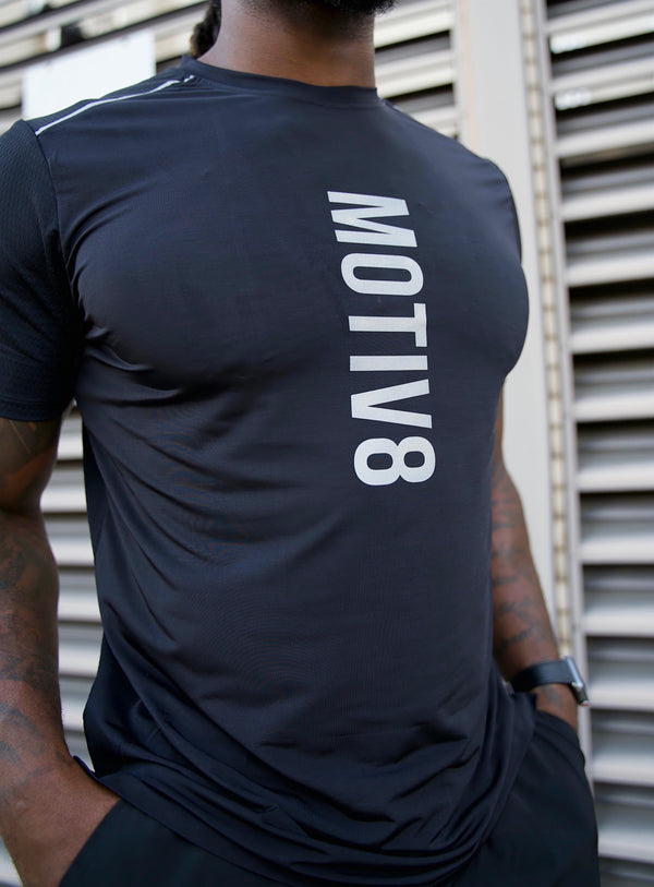 MOTIV8 WEIGHTLESS WORKOUT SHIRT - BLACK
