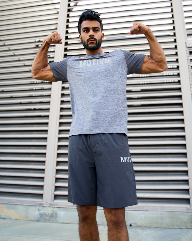 MOTIV8 WEIGHTLESS WORKOUT SHIRT - SHADOW GREY