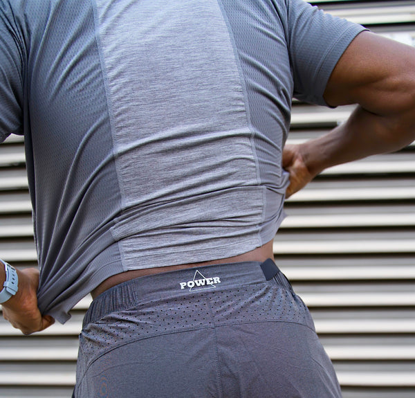 MOTIV8 WEIGHTLESS WORKOUT SHORTS - SHADOW GREY