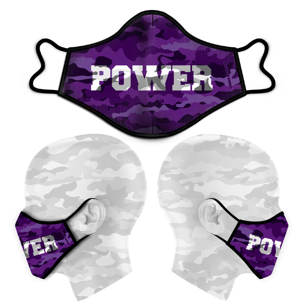 POWER CAMO FACE MASK - PURPLE