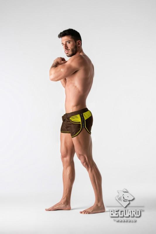 Maskulo Men's Mesh Inserts Club Shorts