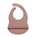 Dusty Pink Silicone Bib - Curated Australia