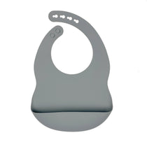 Load image into Gallery viewer, Grey Silicone Bib