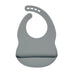 Grey Silicone Bib - Curated Australia