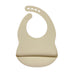 Ivory Cream Silicone Bib - Curated Australia