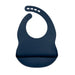 Navy Blue Silicone Bib - Curated Australia