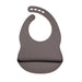 Dark Grey Silicone Bib - Curated Australia