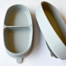 Load image into Gallery viewer, Light Grey Silicone Bowl Set