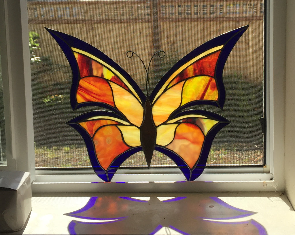 how do i transfer my stained glass patterns to the glass